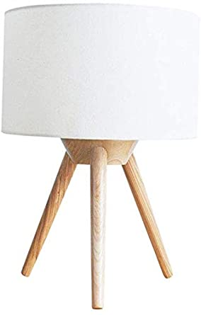 Lámpara de mesa, lámpara de madera individual Art Creative Lámpara ...