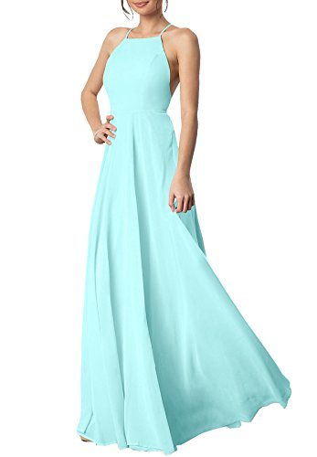ice blue bridesmaids dresses - 2
