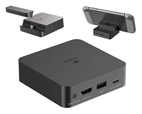 Draagbaar TV Dock, ElecGear Oplaadstandaard voor Nintendo Switch, 4K 2K 1080P Video Docking Station, HDMI Adapter…