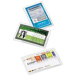 Office Depot Brand Laminating Pouches, ID Badge, 5 Mil, 2.5