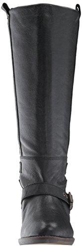 Dv By Dolce Vita Botas De Montar Para Mujer, Dobladillo, Cuero Negro