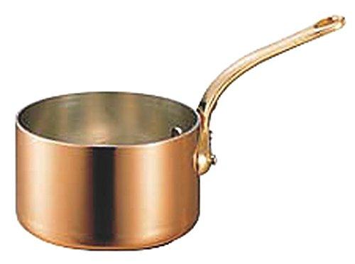 極厚 銅鍋 深型 片手 鍋 (真鍮柄) 21cm (4.0L) プロ仕様 業務用 可 日本製 国産 B01N11MHJH