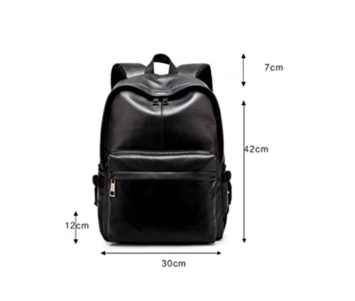 Travel Casual Laidaye Pu Bag Men Backpack Outdoor Shoulder Fashion Brown SIxxCYvw