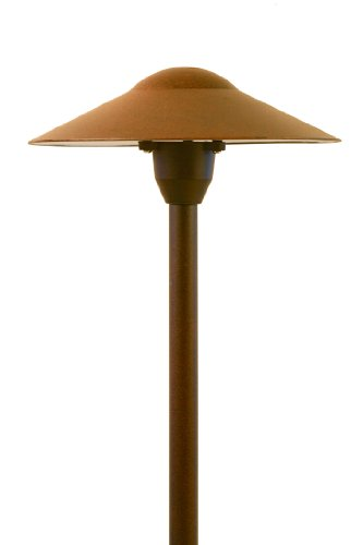 12V Landscape Lighting LED Mushroom Pathway Light in Rust Finish (Mushroom Hat Area Light)
