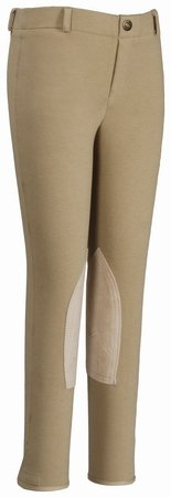 TuffRider Girl's Starter Lowrise Pull-On Breech, Sand, 16 (Cotton Shirt Tuffrider)
