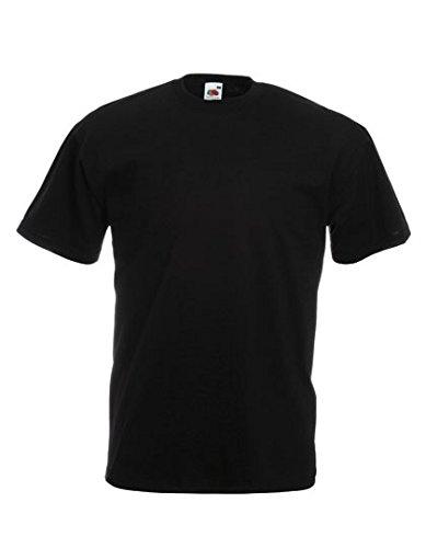 10er Pack Valueweight Fruit of the Loom T-Shirt Größe S - 5XL T-Shirts in vielen Farben XXXXXL / 5XL,schwarz