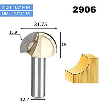 "1//2/"" 1//4/"" Shank Double Edging Router Bits for Wood Cove Box Bit Woodworking 1PC"