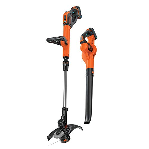 Cheap BLACK+DECKER LCC520BT 20V SMARTECH Max Easy Feed String Trimmer and Power Boost Sweeper Combo Kit