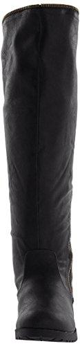 Qupid Wyatte-13 Damen US 6 Schwarz Mode-Knie hoch Stiefel