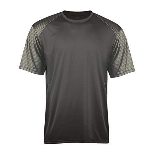 Jerseys Baseball Badger Solid (Graphite Adult 3X Sport Stripe Sleeves Shirt/Undershirt)