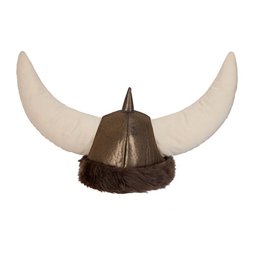 Adult Deluxe Soft Viking Helmet Hat Fancy Dress Party Accessory Horns Faux ()