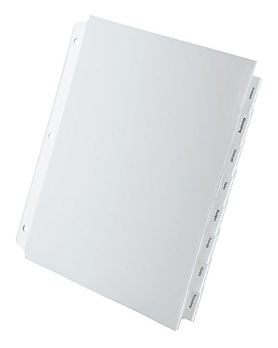 OfficeMax Extra Wide Printable Dividers Clear