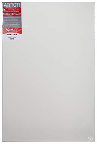 Fredrix 5031 Red Label Stretched Canvas, 24 By 36 Inches