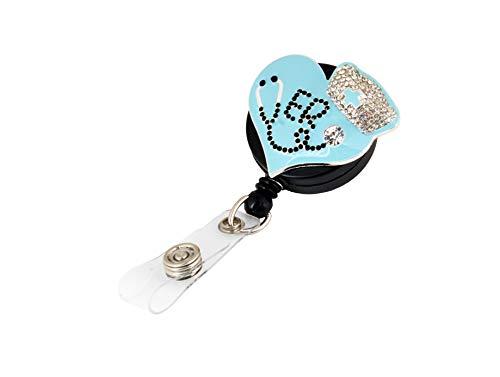 Blue Heart Gemstone Badge Reel