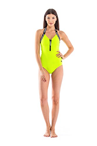 Glidesoul Women's Low V-Neck Onepiece Swimsuit, Lemon, XX-Small by GlideSoul
