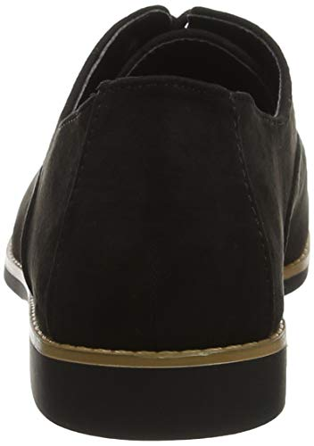 Negro Zapatos Cordones Kandie New para de Mujer Look Black 01 Brogue ATETq8x