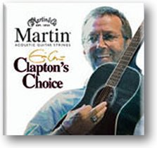Martin MEC13 Clapton's Choice Phosphor Bronze Acoustic Guitar Strings, Medium