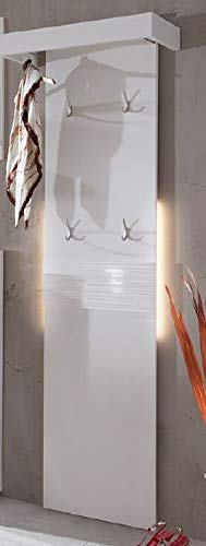 Froschkönig24 Swindon Garderobenpaneel Paneel Garderobe Hochglanz Weiß