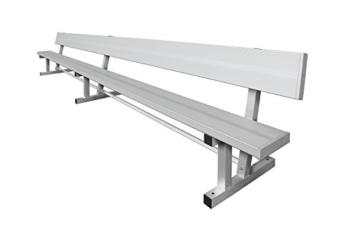Kwik Goal 15' Bench with Back, Silver ()
