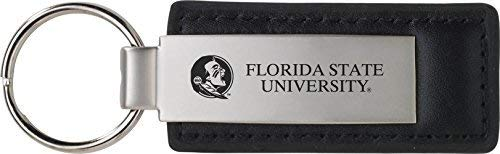 LXG, Inc. Florida State University - Leather and Metal Keychain - - Florida Leather University State