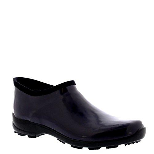 Mujer Caucho Glosar Welly Zapato Jardín Lluvia Nieve Botas De Goma Bota Morado Oscuro