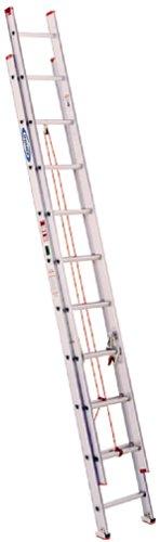 Werner D1120-2 200-Pound Duty Rating Aluminum Flat D-Rung Extension Ladder, 20-Foot