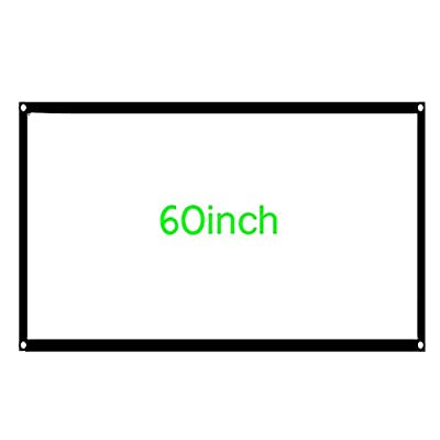 60-inch Medium Screen Projector Screen Home Theater/Cinema or Presentation Platform - 16:9 Aspect Ratio Projection Screen - Suitable for HDTV/Sports/Movies/Presentations