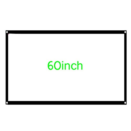 "60-inch (29x51"") Medium Screen Projector Screen Home Theater/Cinema or Presentation Platform - 16:9 Aspect Ratio Projection Screen - Suitable for HDTV/Sports/Movies/Presentations"