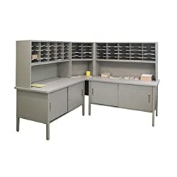 Adjustable Slot Literature Organizer With Cabinet Color: Gray Textured Steelgray Laminate Surface