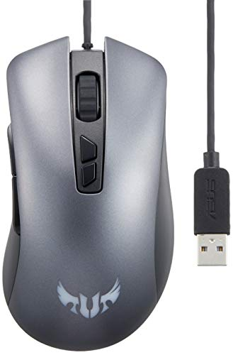 Asus TUF Gaming M3 Optical USB RGB Gaming Mouse Featuring A 7000 DPI Optical Sensor, 7 Programmable Buttons, 4-Level DPI Switch and Aura Sync RGB Lighting