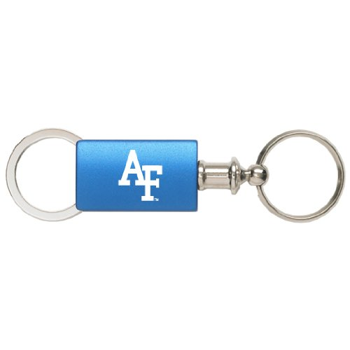 United States Air Force Academy - Anodized Aluminum Valet Key Tag - Blue - Air Force Falcons Keychain