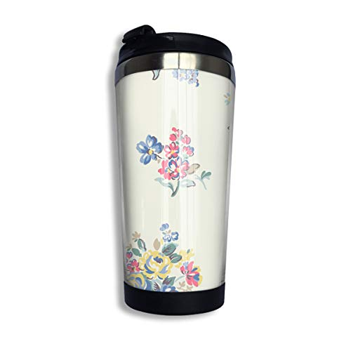 Coffee Thermos Cup Chinese Pastel WaterColour Stainless Steel Travel Mug Cup Water Bottle ()