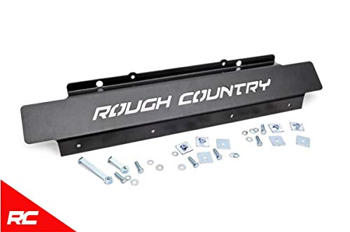 Rough Country Front Skid Plate Compatible w/ 2007-2018 Jeep Wrangler JK Front Armor 778 ()