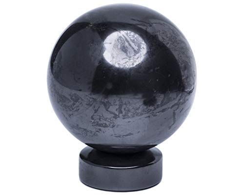 Rock Sphere - Shungite Stone Sphere Ball Polished 2