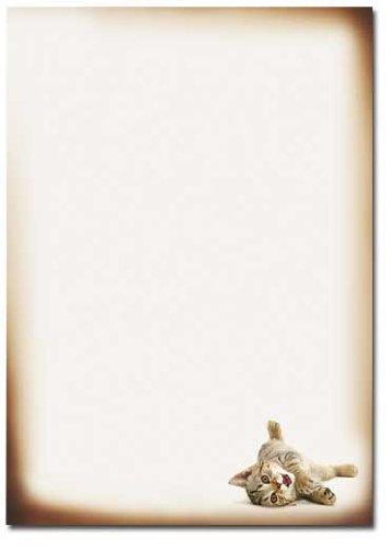 Motif Paper Stationary Paper Playful CAT 20 Sheets DIN A4 90g//m/²