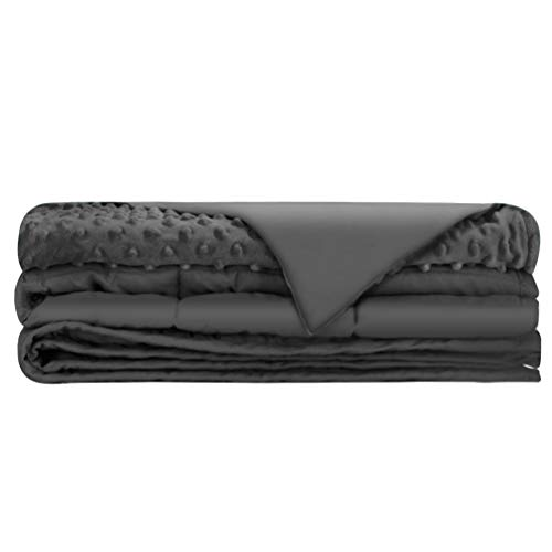 Cheap Weighted Blanket with Free Removable Minky Cover 7 lbs 41