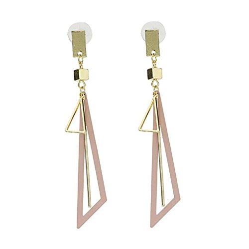 Triangular Womens Ring - Bobury Geometric Shaped Women Girls Triangular Earrings Jewelry Drop Pendant Alloy Plating Dangle Ear Studs Loop