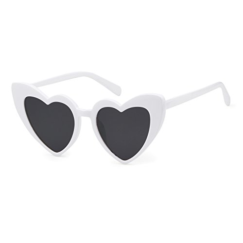 Love Heart Shaped Sunglasses Women Vintage Christmas Giftv For - Faces Shaped Frames Heart For