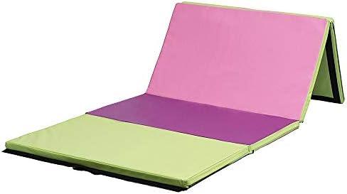 体操マット 118×47×2インチの4折りたたみ体操マットヨガエクササイズジムAirtrackパネルタンブリングクライミングピラティスパッド (色 : マルチカラー, サイズ : 300x120x5cm)