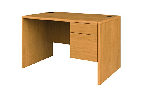 HON 107885RCC 10700 Series Single 3/4 Right Pedestal Desk, 48w x 30d x 29 1/2h, Harvest