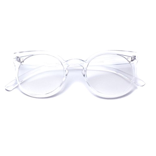 WearMe Pro -Round Cateye Clear Frame Transparent - Glases Fake