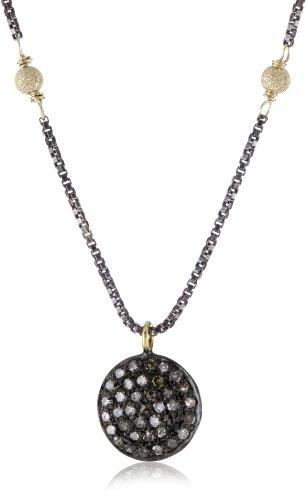 "Lulu Designs ""Pave"" Diamond Pendant Star Dust Balls Necklace"