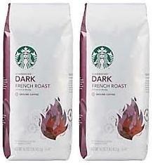 2 Packs of 40 Oz Starbucks French Roast Whole Bean Coffee = 2 x 40 Oz = 80