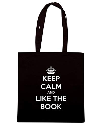 THE LIKE Speed AND Shirt BOOK Borsa Nera KEEP Shopper TKC1017 CALM wxwqz