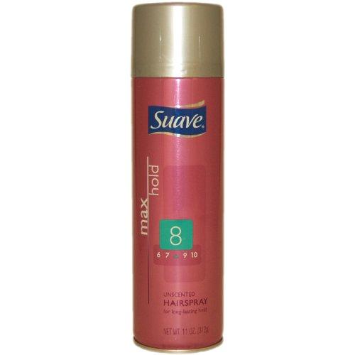 Suave Aerosol Spray Maximum Hold Unscented Hairspray, 11 oz
