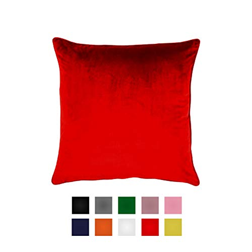 Essencea Velvet Throw Pillow/Cushion Covers Set of 2 Solid Color Decorative European Shams Soft Square Pillowcases with…
