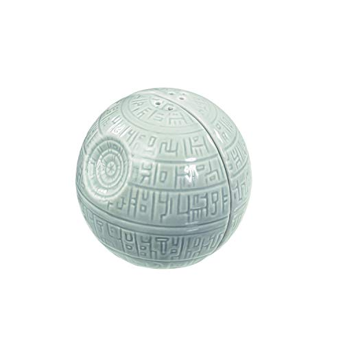 Star Wars Salt and Pepper Shakers - Death Star Ceramic Pots for Salt and Pepper Seasoning - Add a Shake of the Dark Side to Every Meal - Side by Side Stackable, A Must-Have Novelty Gift for Superfans (Darth Vader & Stormtrooper Salt & Pepper Shakers)