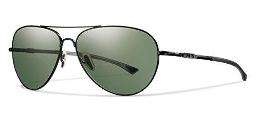 Smith Optics Audible 60 mm ChromaPop Polarized Gray Green Matte Black - Audible Smith Sunglasses