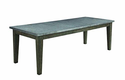 Scott Living Davenport Collection Gunmetal Finish Oak Wood Dining Table
