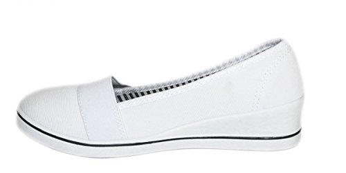 Elara Keilpumps Wedges | Bequeme Sportliche Damen Pumps mit Keilabsatz Weiß